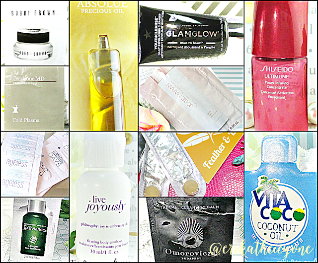 skin care sample extravaganza sample collage notes from my dressing table