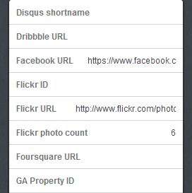 Sosyal paylaşım düğme URL'si girilecek olan alan