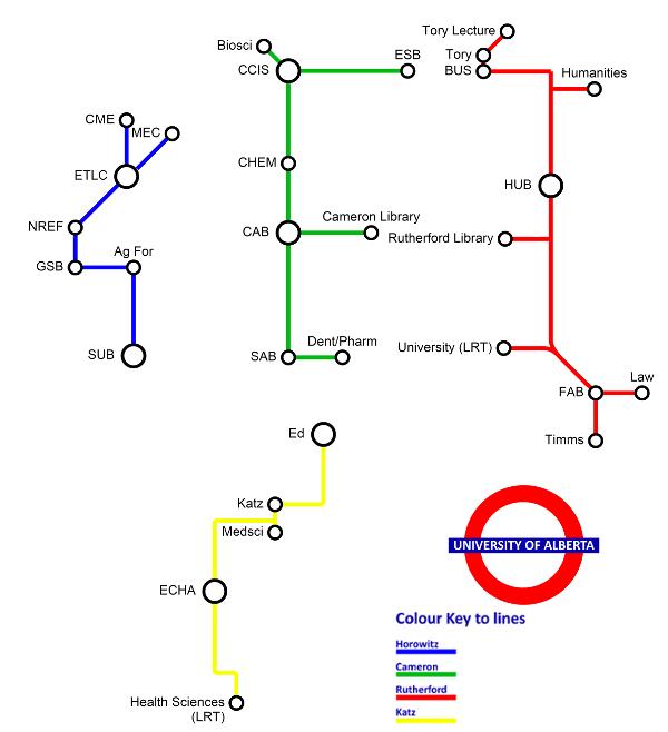 U of A Pedway Map
