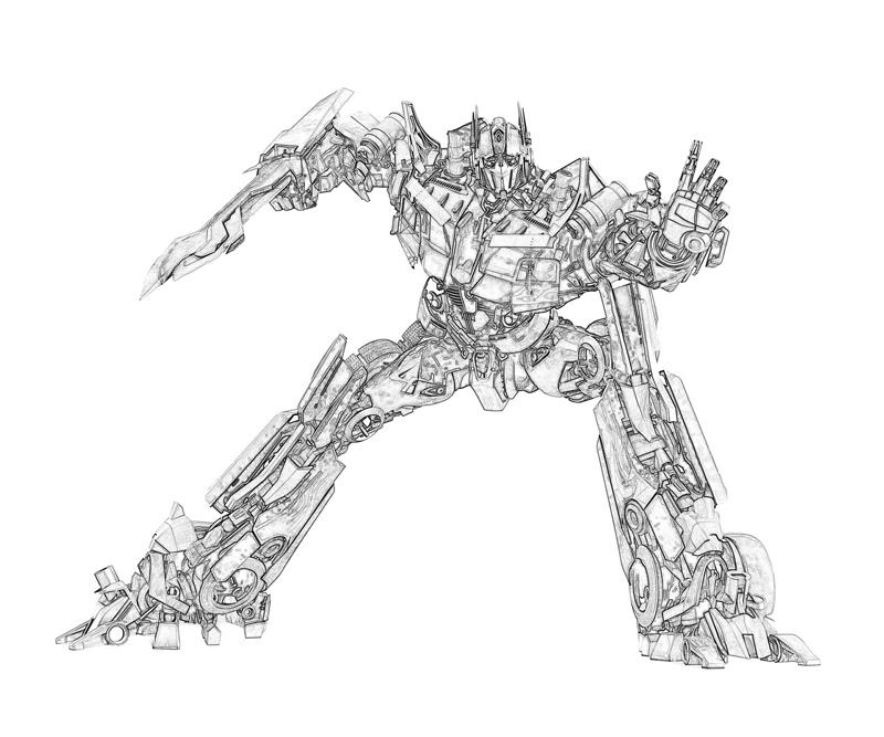 coloring pages optimus prime - photo#32
