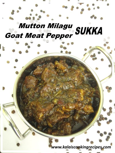 mutton milagu pepper sukka