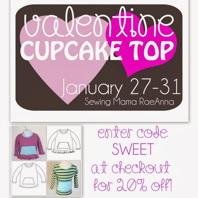 Sewing Mama RaeAnna Valentine Cupcake Top