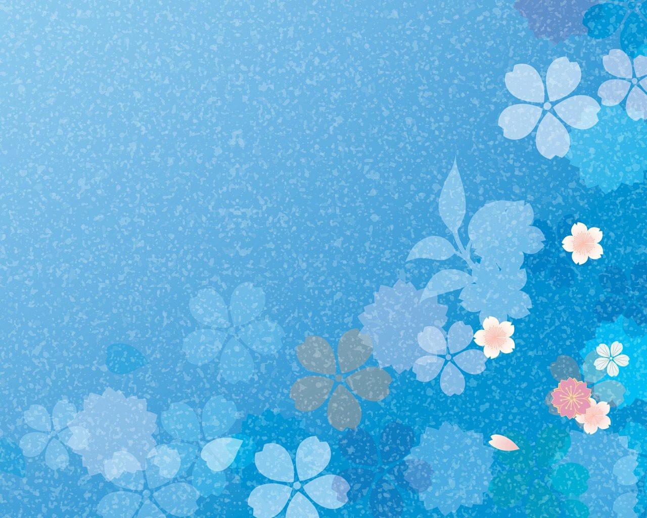 Blue Flower Background Microsoft Windows 7 Theme