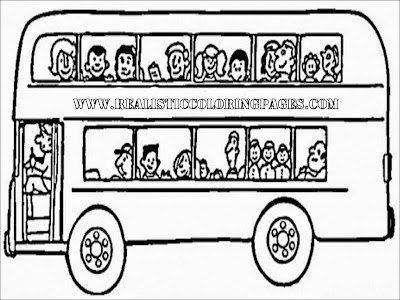 london bus coloring pages
