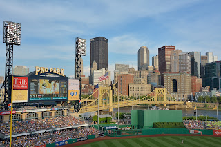 Pittsburgh skyline from the upper deck in PNC Park