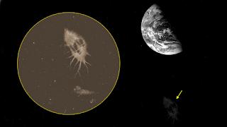 Extraña foto de una nube en el espacio tomada durante la misión Apolo 8, en 1968 Nube+cercana+a+la+Tierra