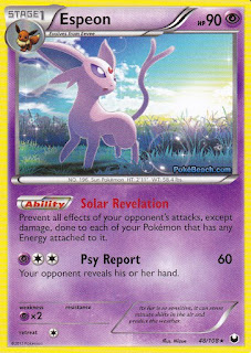Espeon Dark Explorers Pokemon Card
