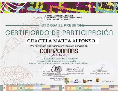 """""""Certificado de Participación Convocatoria Corazonadas"""""""