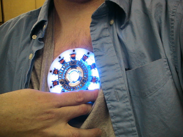 home made arc reactor from movie ironman