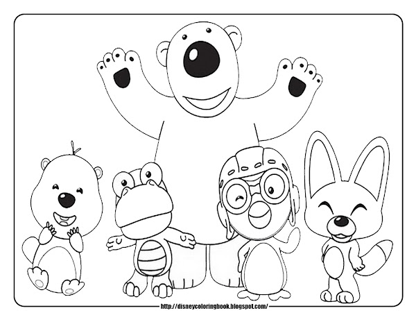 Cartoon Penguin Coloring Pages To Print