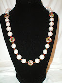 White pearls and cloisonne