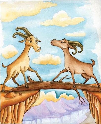 Fábula A Duas Cabras