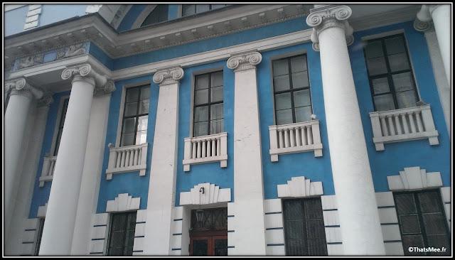 Batiment Kiev façade turquoise Ukraine