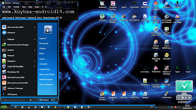 THEME WINDOWS 7 BLUE BLACK