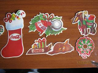 Recortes navideños pegados