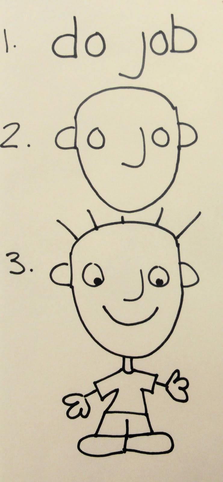 chin colle a simple way to draw a person do job person