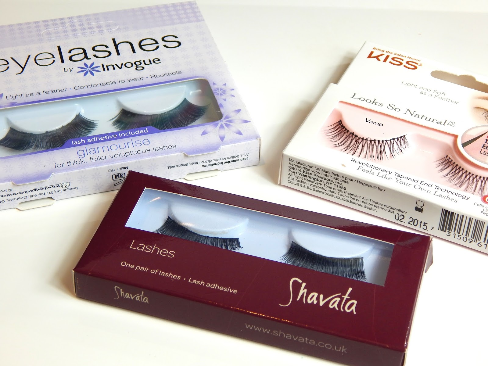 False Eyelashes for Valentine's Day