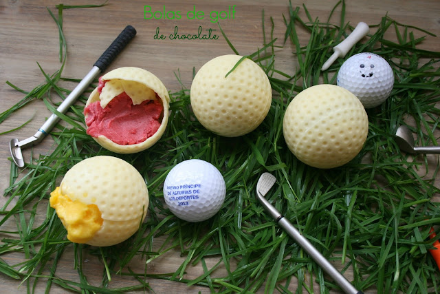 bolas de golf, chocolate