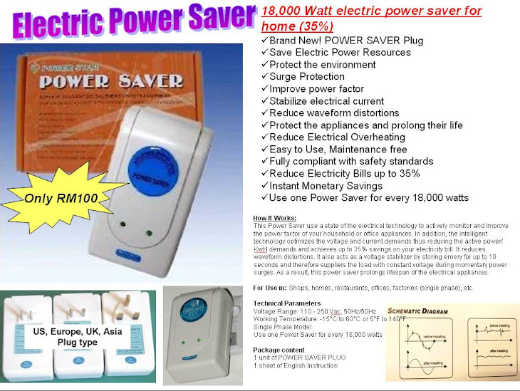 TNB Electric Saver 18000 Watt. Save 30% = RM100