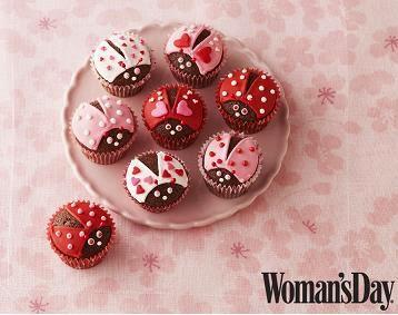 lovebug cupcakes