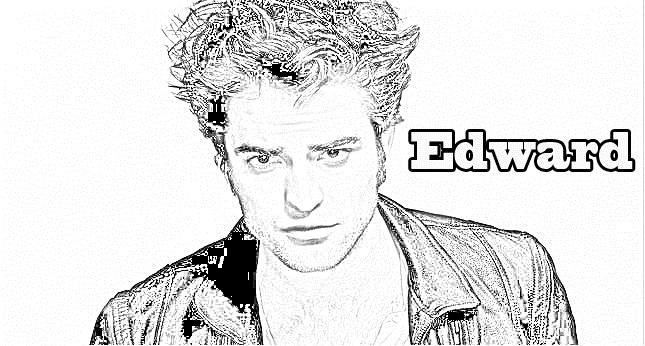 Edward para colorear y pintar ~ Colorea el dibujos