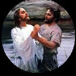 Jesus sendo batizado