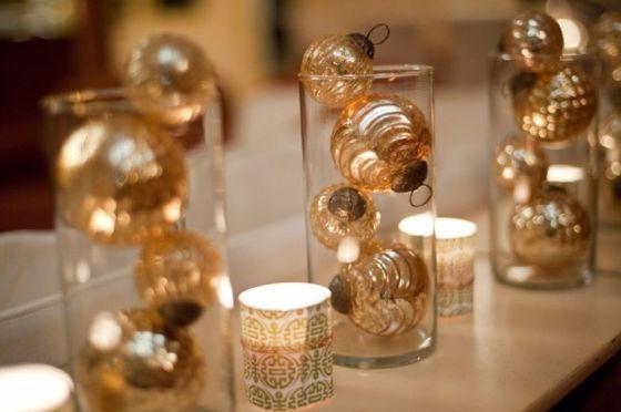 Ideia decoração réveillon Ano novo bolas