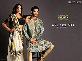 Flat 40% Off on All Orders for Clothing , Footwear & Accessories @ Myntra (NO MINIMUM PURCHASE)
