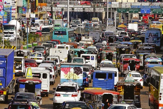 Very heavy traffic in Metro Manila