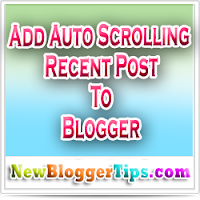 Auto Scrolling Recent Post Widget Generator V 1