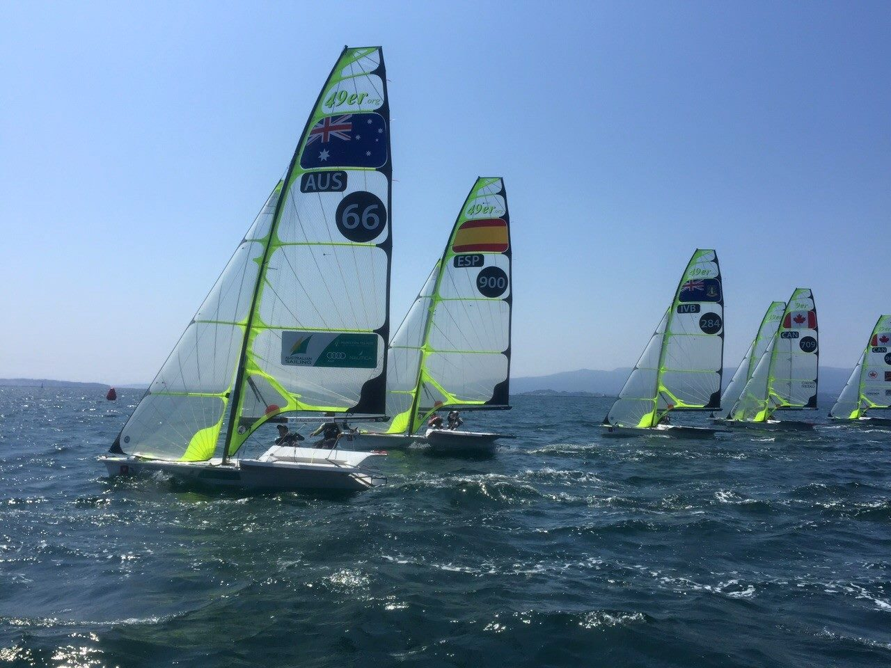 Take a look at the 2015 49er Spanish Championship in the Galician Sailing Center