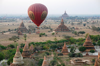 Ballooning Over Bagan in Myanmar