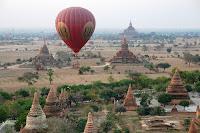 Ballooning Over Bagan in Myanmar