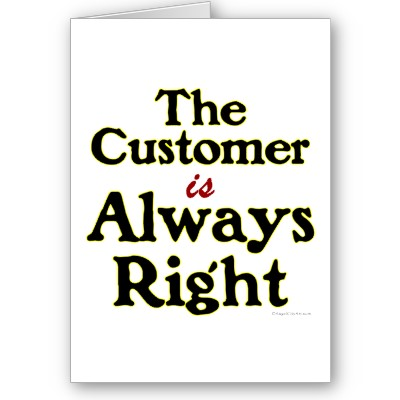 the véhicule press blog: The Customer Is Always Right