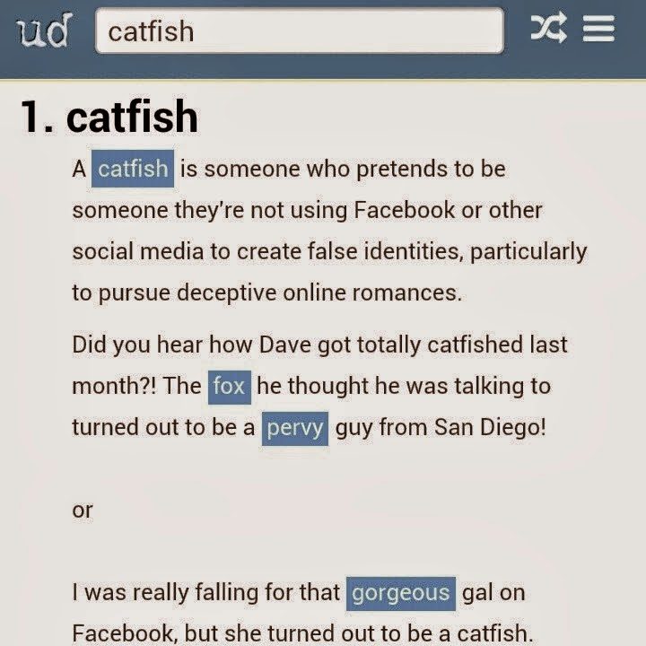 Catfished urban dictionary