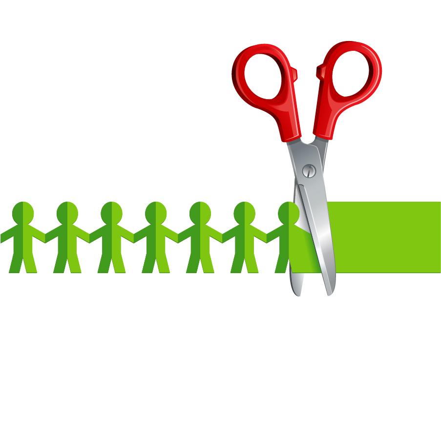 ハサミと切り絵 scissors papercut vector イラスト素材