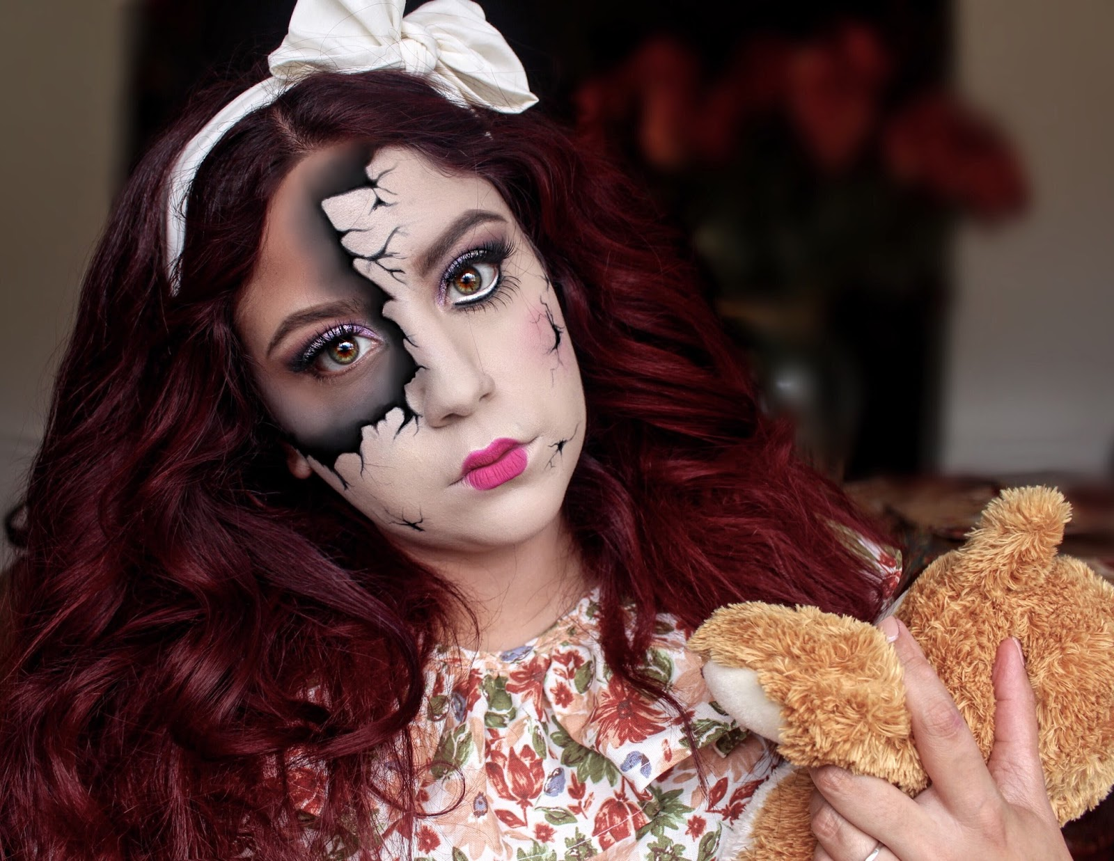 halloween makeup: broken doll | nati vergara: littlemissnati