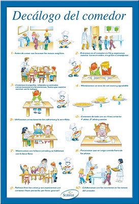 Poster de madeleine para newrest normas del comedor www - Comedor escolar en ingles ...