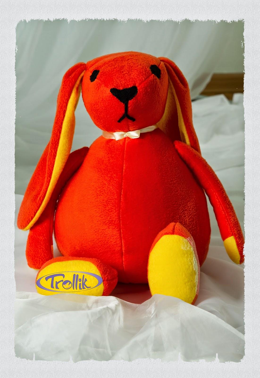 большой заяц мягкая игрушка из флиса своими руками