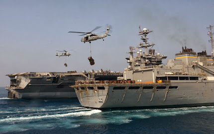 KNIGHTS OF HELICOPTER SEA COMBAT SQUADRON 22 MAKE DELIVERY TO USS BULKELEY