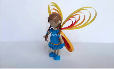 3D quilled fairy tutorial