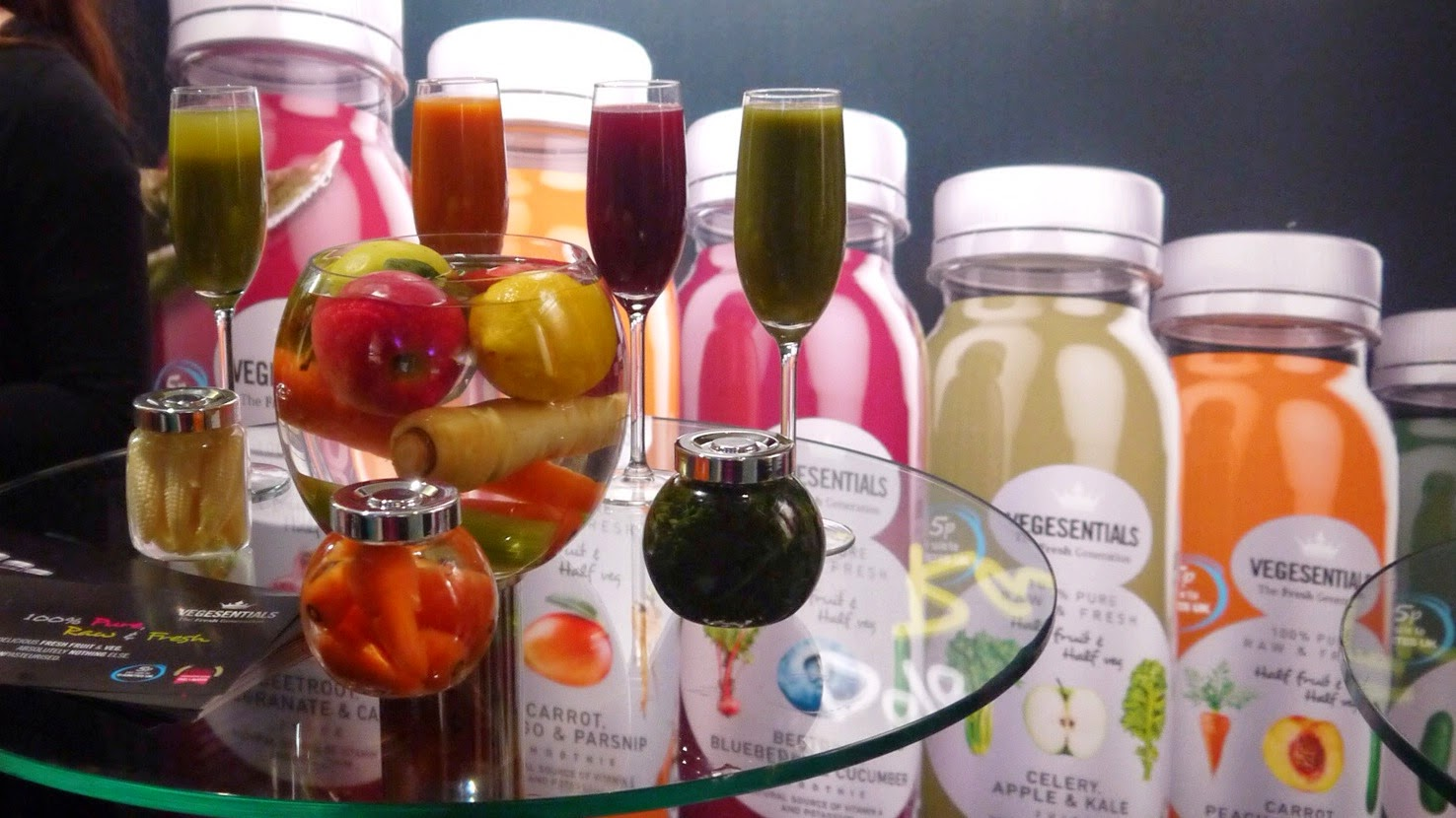 Vegesentials Fruit & Vegetable Juices at Be:Fit London