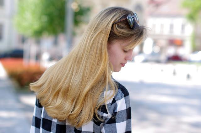jak dbać o długie włosy, koszula, flanelowa, krata, moda, fashion, inspiracje, reserved