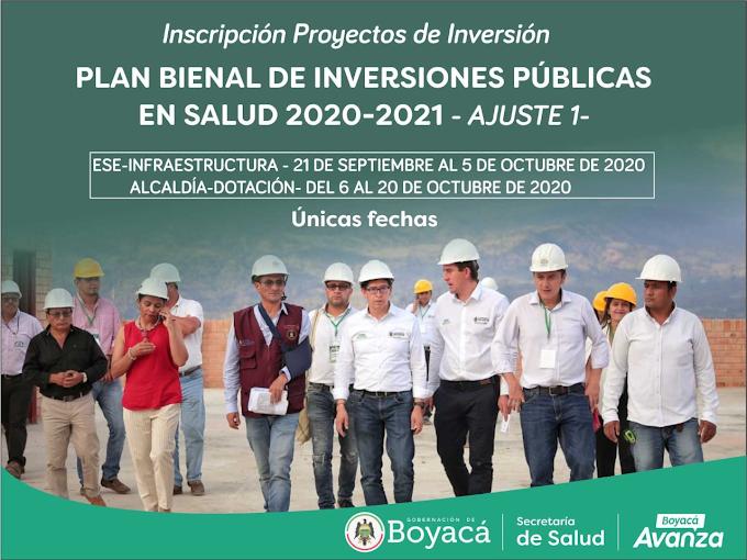 Se abre plataforma del Plan Bienal de Inversiones 2020 - 2021