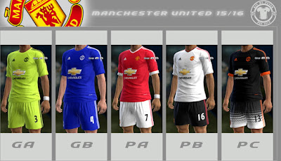 PES 2013 Manchester United 2015-16 GDB by Peter