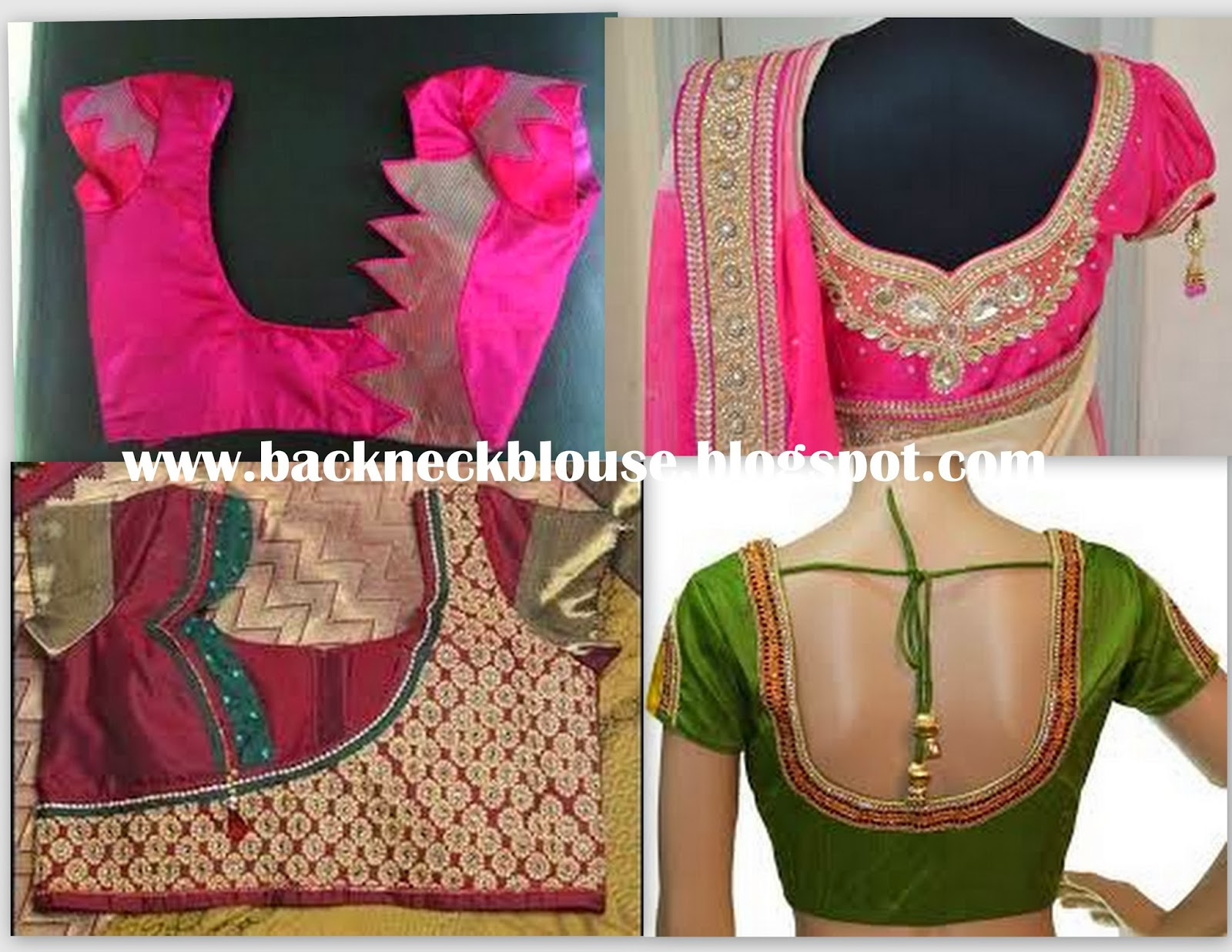 Back Neck Blouse Ready Made And Customized Designer Blouse With Blouse Designs Catalogue New