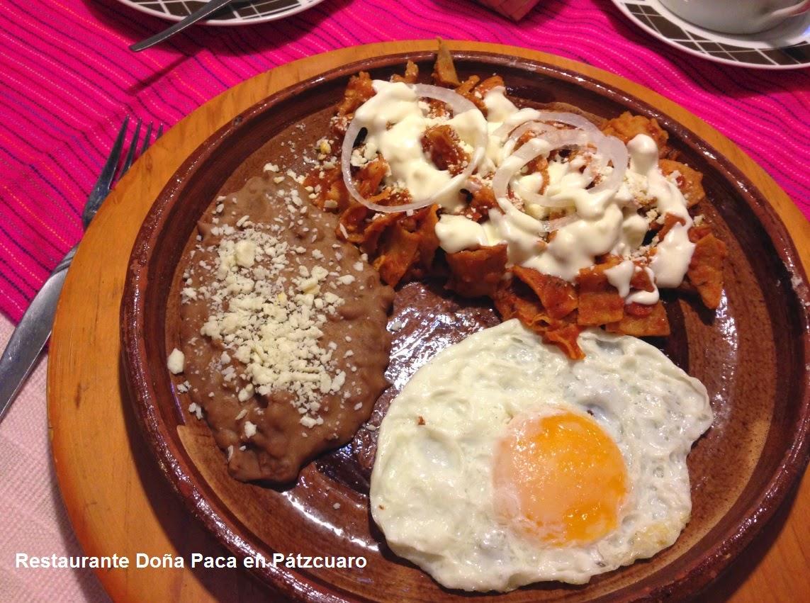 Platillos Mexicanos para Desayunar en Pátzcuaro en Restaurante Doña Paca