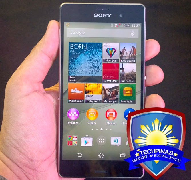 Sony Xperia Z3, Sony Xperia Z3 Philippines, TechPinas Badge of Excellence