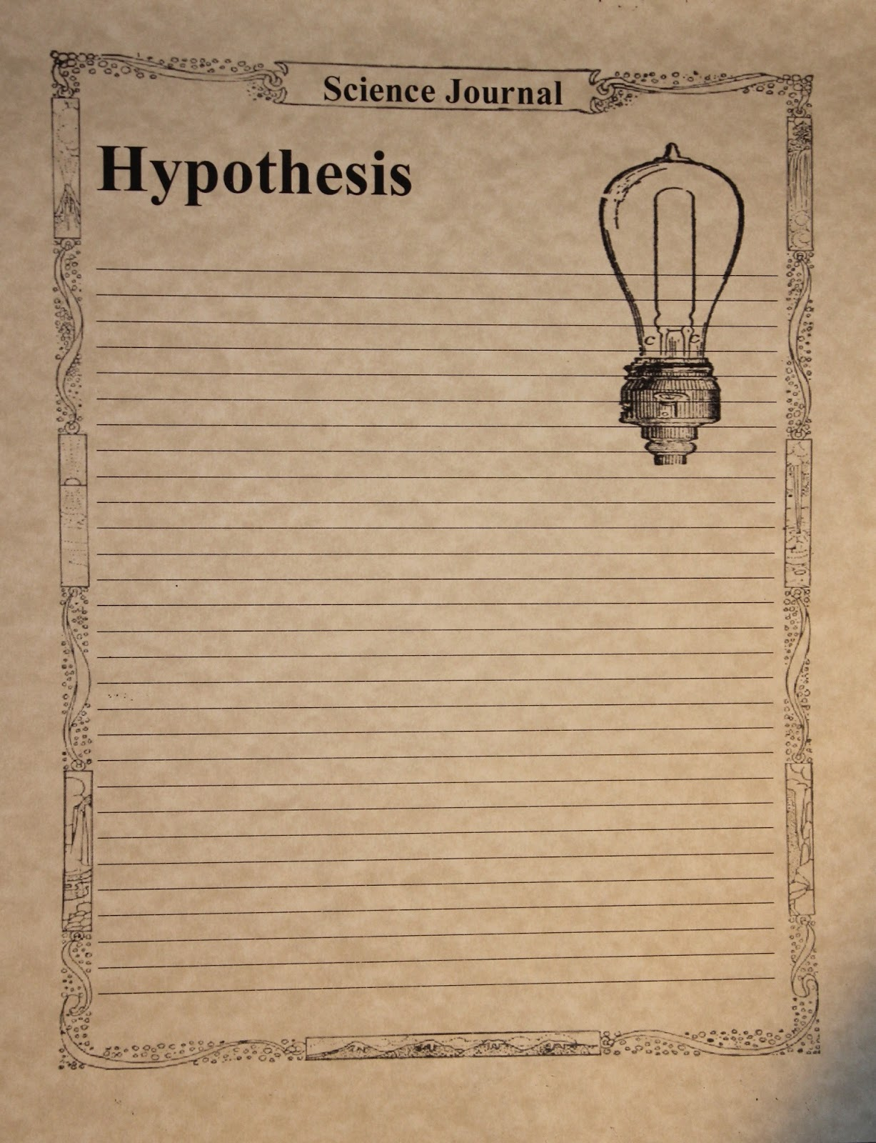 Scientific hypthesis