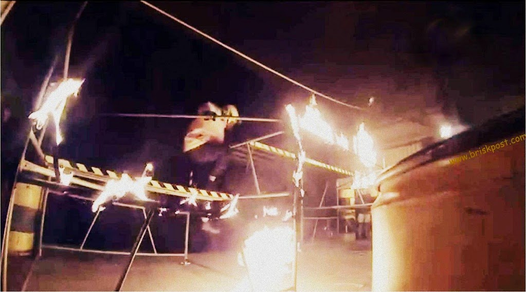 A still of fiery track at the set of Fear Factor Khatron Ke Khiladi Darr Ka Blockbuster Climax Stunt